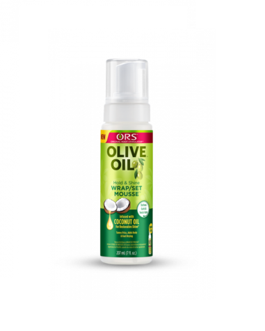 ORS OLIVE OIL WRAP/SET MOUSSE WITH COCONUT OIL 7OZ/207ML