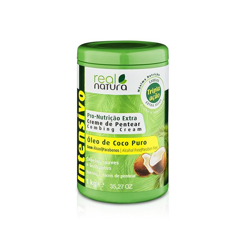 REAL NATURA CREMA DE PEINAR PRO-NUTRIÇÃO EXTRA COCO 1KG